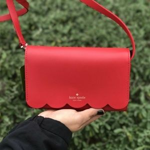 Kate Spade WLRU5298 Purse/Crossbody Red/Vanilla